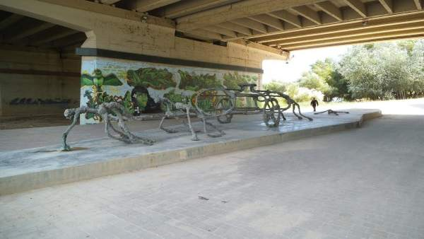 Escultura 'The Water wagon' vandalizada