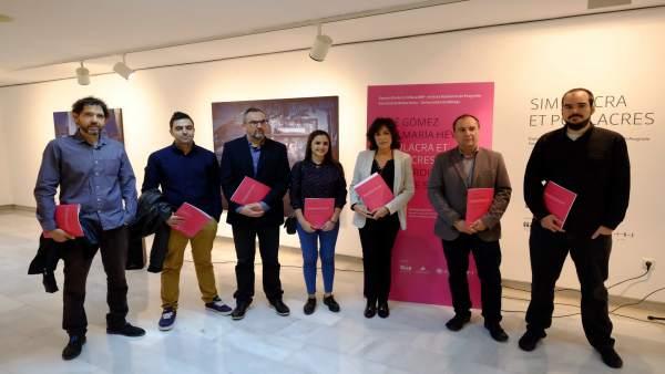 Susana Martín, Salvador Haro y José María Alonso en la exposición.