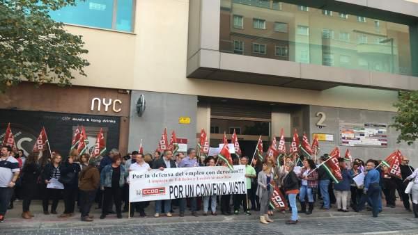Imagen de archivo de la protesta ante la sede de Aselja