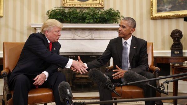 Obama y Trump escenifican el traspaso de poderes