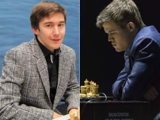 Karjakin y Carlsen