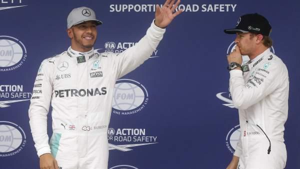 Hamilton y Rosberg