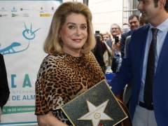 Catherine Deneuve paseo de la fama de Almería