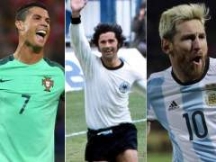 Romario, Cristiano, Gerd Muller, Messi y Villa