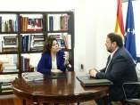Santamaría y Junqueras se reúnen en Moncloa.