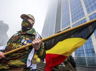 Protesta militar en Bélgica