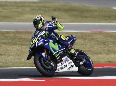 El piloto italiano de MotoGP Valentino Rossi