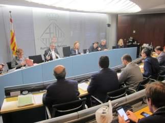 Presentación del Informe económico de Coyuntura en la comisión de Economía y Hacienda del Ayuntamiento de Barcelona.