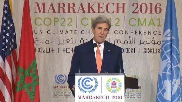 John Kerry, en Marrakech