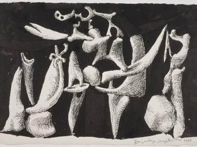 'La Crucifixión' de Picasso del 1932 (París, Musée national Picasso), una de las obras de la exposición 'Picasso i l'art romànic' del MNAC. (© Sucesión Pablo Picasso. VEGAP, Madrid 2016)