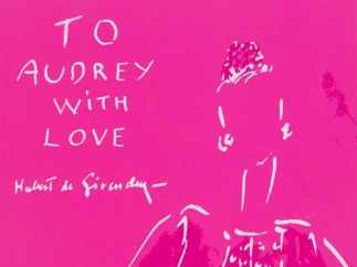 Book cover 'To Audrey with Love', drawing by Hubert de Givenchy, 1961