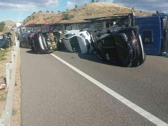 Un accidente corta la A-2 en Morata de Jalón, en sentido Madrid