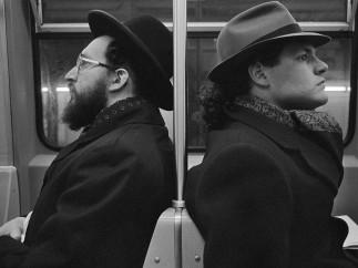 Richard Sandler - Hasid and Hipster, NYC, 2001