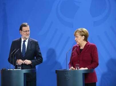 Rueda de prensa de Rajoy y Merkel en Alemania