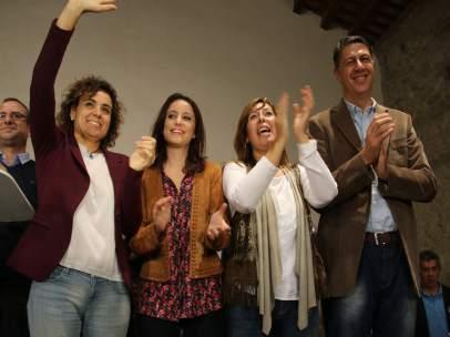 Andrea Levy, Dolors Montserrat, Alicia Sánchez-Camacho y Xavier García Albiol.