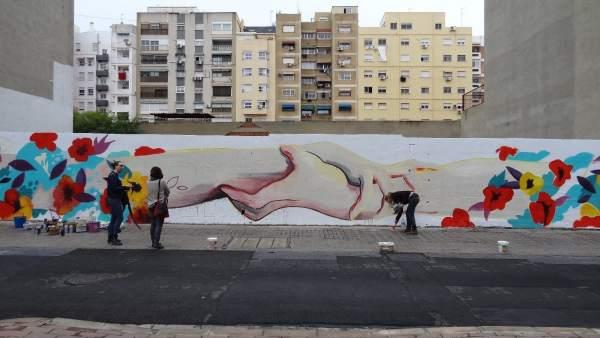 Arte urbano del Igualment Fest en Valencia