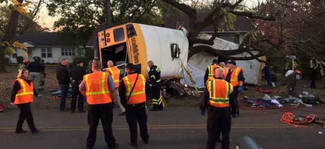 Accidente de un autobús escolar en EE UU
