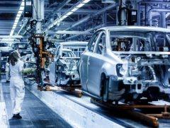 Línea de ensamblaje de Volkswagen