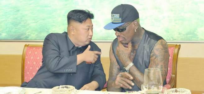 Rodman y Kim Jong-un