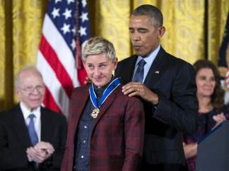 Obama Condecora a DeGeneres