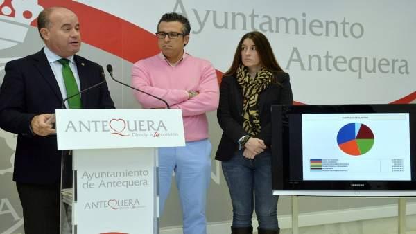 Presentación Manuel Barón presupuestos Antequera 2017