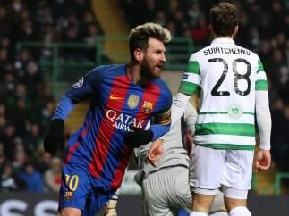 Gol de Messi al Celtic