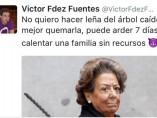 Tuit del cargo de Podemos Víctor Fernández