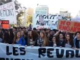 Manifestació de estudiants per les revàlides de la Lomce.