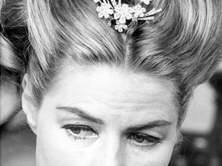 Ingrid Bergman en el set de 'La Visita'