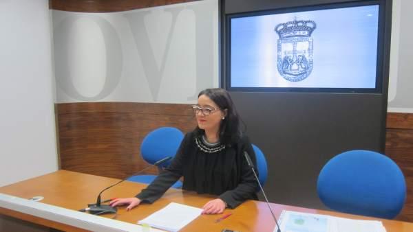 La Concejala Del PP De Oviedo Covadonga Díaz.