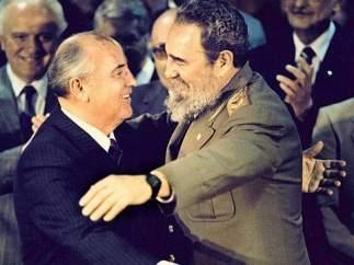 Castro con Gorbachov
