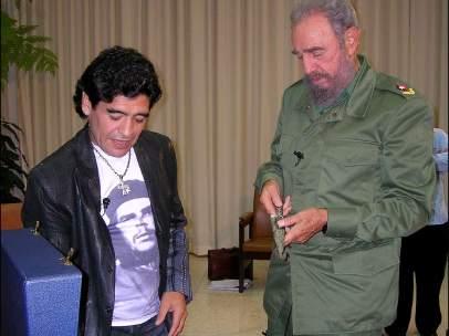 Maradona y Castro