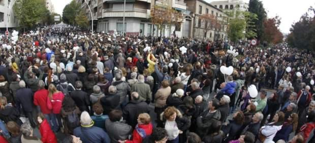 Manifestación contra la fusión hospitalaria de Granada