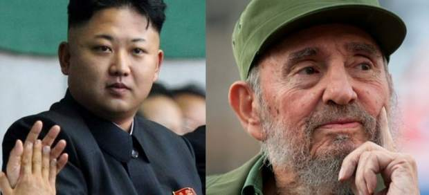Kim Jon Un y Fidel Castro