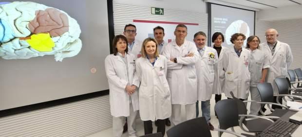 Imagen del equipo de profesionales que participó en la intervención.