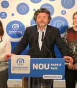 De izquierda a derecha Cristina Rubies, Antoni Castellà, Núria de Gispert, y Joan Recasens (Demòcrates)