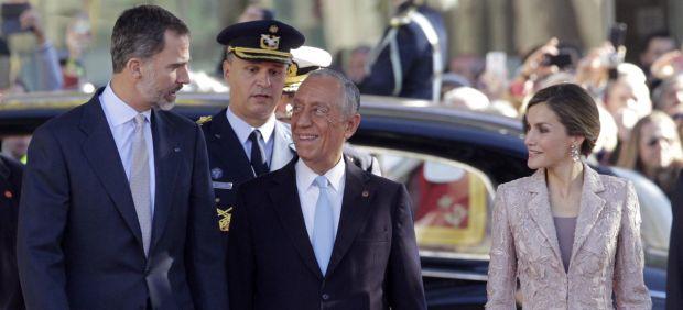 Visita oficial de los reyes a Portugal