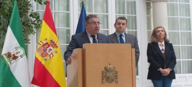 El ministro del Interior, Juan Ignacio Zoido, en la Delegación del Gobierno