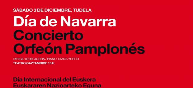 Cartel que anuncia los actos en Tudela.