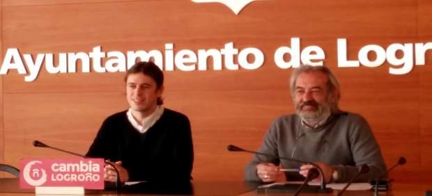 Gonzalo Peña y José Manuel Zúñiga, concejales de Cambia Logroño
