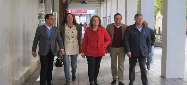 La ministra de Empleo, Fátima Báñez, en Huelva.