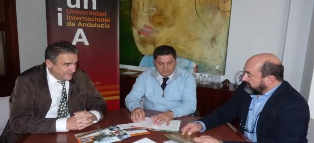 Una de las primeras reuniones de Agustín Galán en el campus de La Rábida