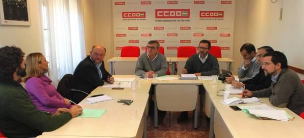 Reunión en la sede de CCOO.