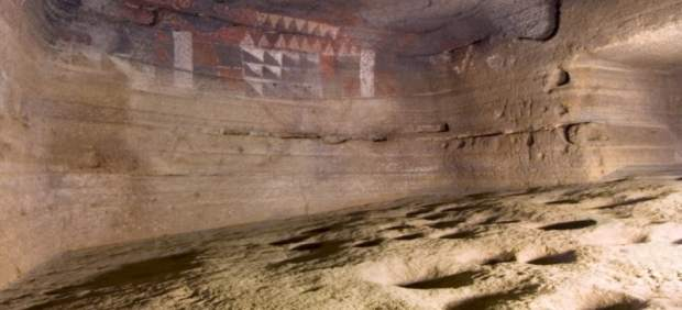 Interior de la Cueva Pintada