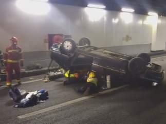 Simulacro de accidente en los túneles de la M-30
