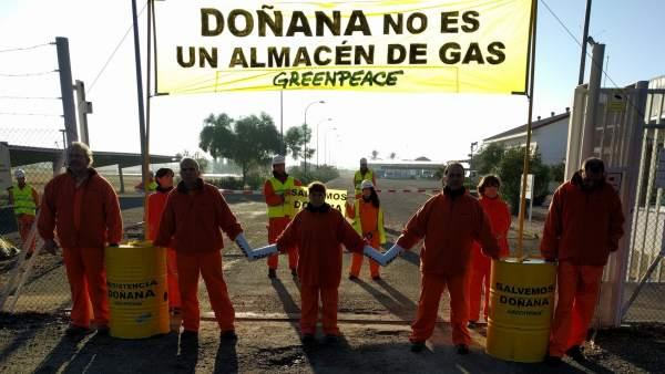 Activistas en Doñana