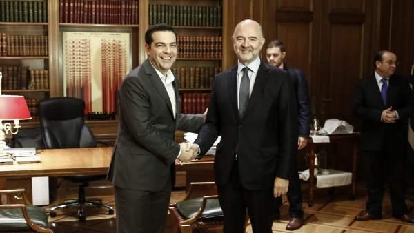 Tsipras y Moscovici