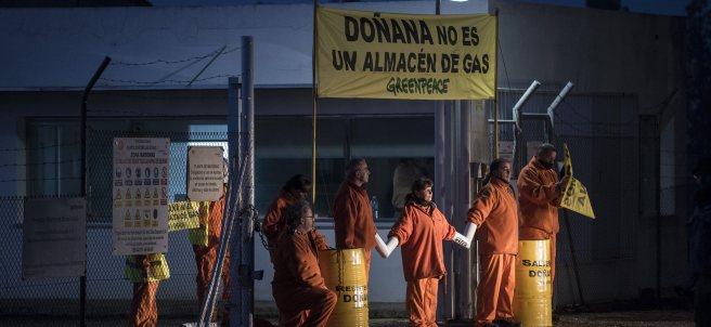 Protesta de Greenpeace en Doñana