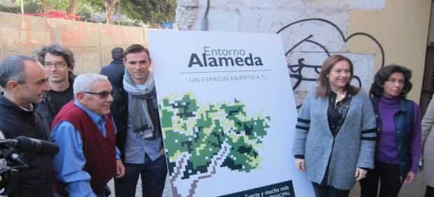 Campaña promoción comercios Alameda plataforma afectados metro Martín Rojo