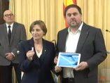 Carme Forcadell y Oriol Junqueras